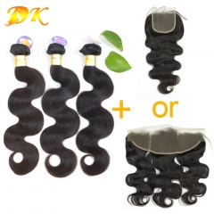 Body Wave 2/3/4 Bundles with Closure 4x4 Luxury Raw Eurasian Hair