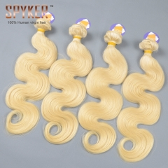 Blonde 613# Body wave 3/4 Bundles deal Luxury Raw Chinese hair