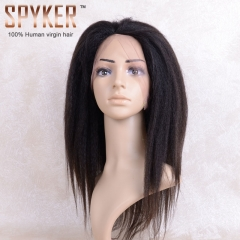 Yaki Half lace Wig 100% human virgin hair Hearts-A